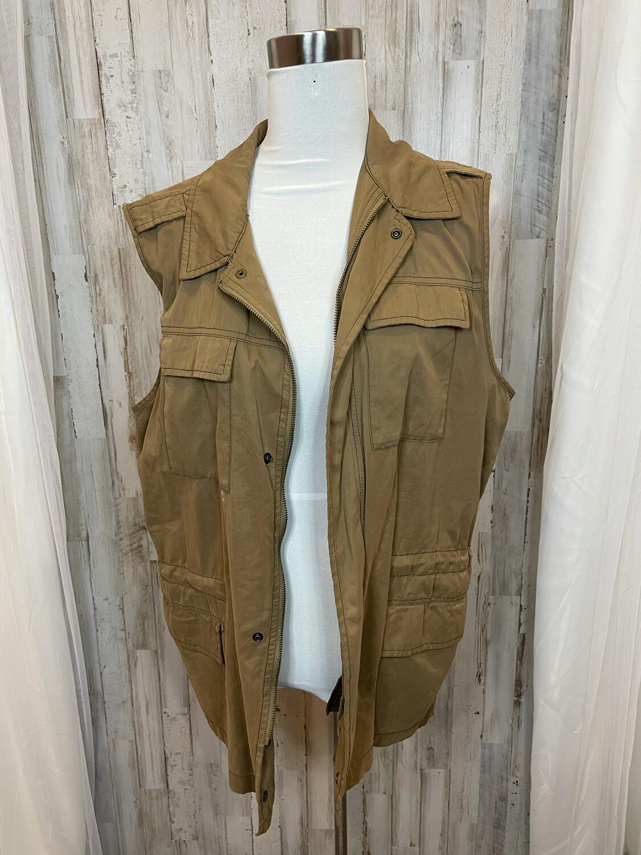 Ecote' Olive Vest w/Cinch Waist - L
