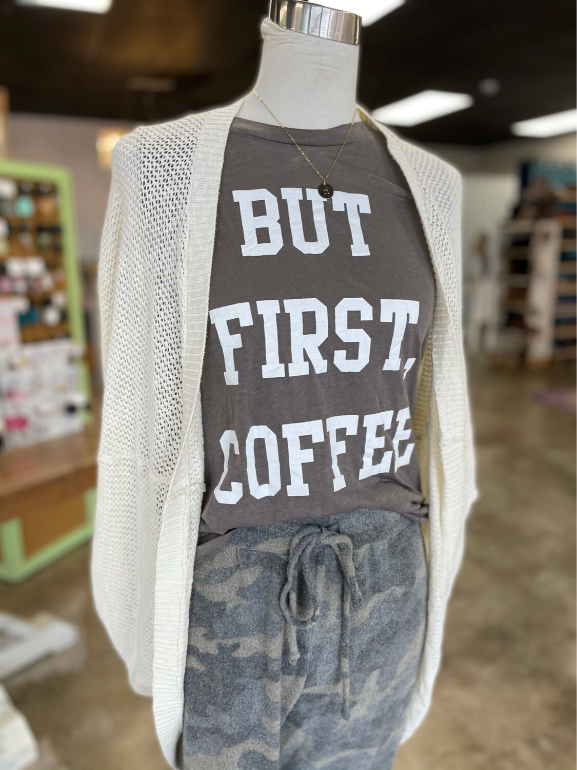 Fifth Sun But First Coffee Muscle Tank - M
