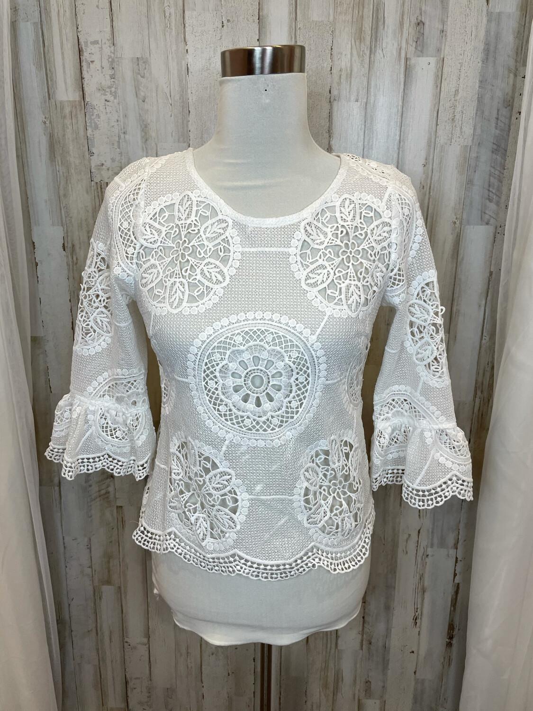 Fab'rik White Lace Top - S