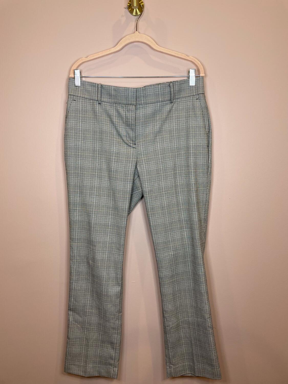 Ann Taylor Factory Black & White Plaid Pants - Size 10