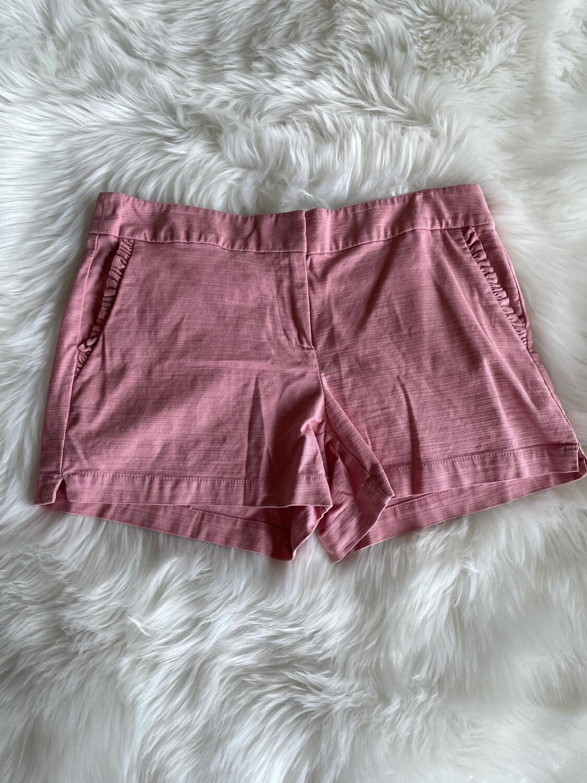 "LOFT Outlet 4""inch Pink Short w/Ruffled Pocket - Size 8"