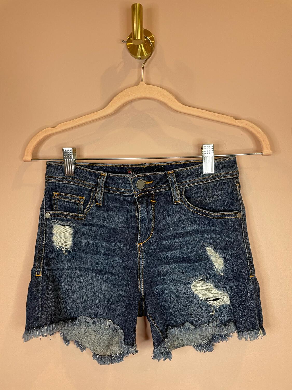 Fran Denim Distressed Cutoff Shorts - Size 27