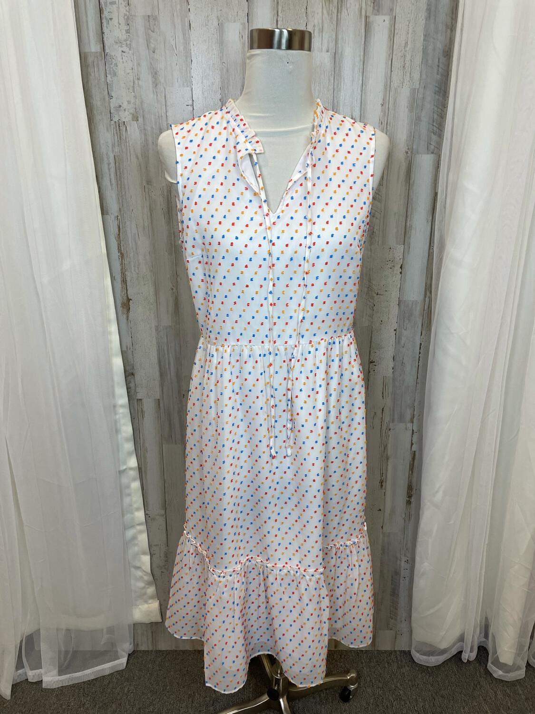 Draper James White Dot Tiered Dress - Size 10