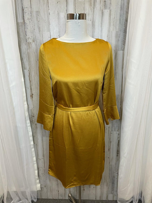 H&M Mustard Silk Dress - Size 4