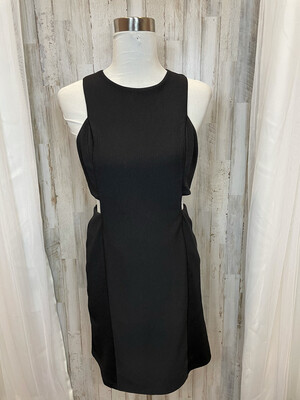 She + Sky Black Cut Out Dress - L