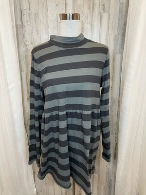 We The Free Grey Striped Dress - L