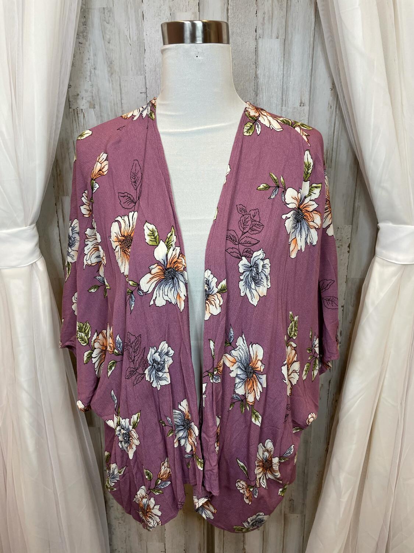 Promesa Purple Floral Kimono - S