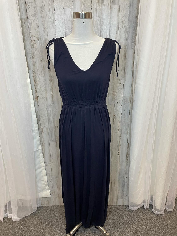 Modcloth Black Tank Dress w/Tie Accent - L