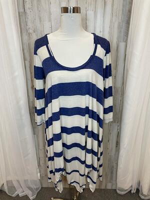 FP Beach Blue & White Striped Dress - M