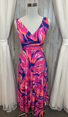 Lilly Pulitzer Pink, Blue, Orange & White Multicolor Dress - S