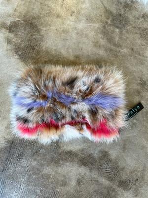 Jocelyn Fuzzy & Leather Clutch