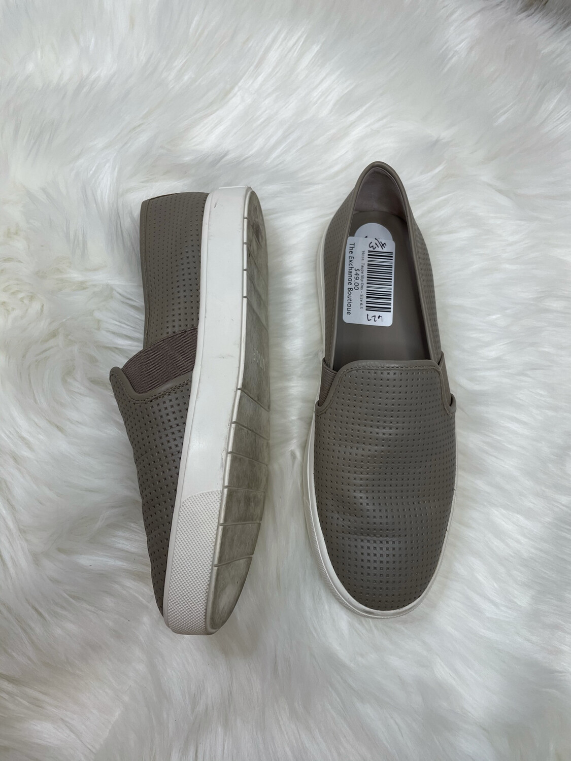Vince. Taupe Slip Ons - Size 6.5