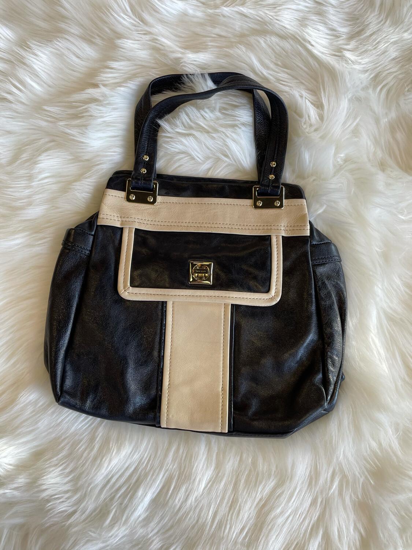 Kate Spade Black & Cream Leather Handbag