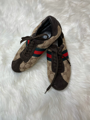 Gucci Monogram Lace Up Sneaker Dupes - Size 9