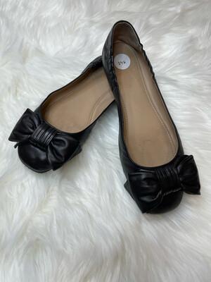 Tory Burch Black Bow Ballerina Flats - Size 8.5