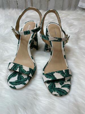 Gianni Bini Palm Leaf Sandal Heels - Size 6.5