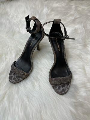 Pelle Moda Animal Print Glitz Sandal Heels - Size 6.5