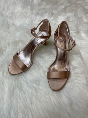 Michael Kors Rose Gold Strappy Heels - Size 6
