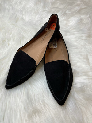 Madden Girl Black Suede Pointed Toe Loafers - Size 9.5