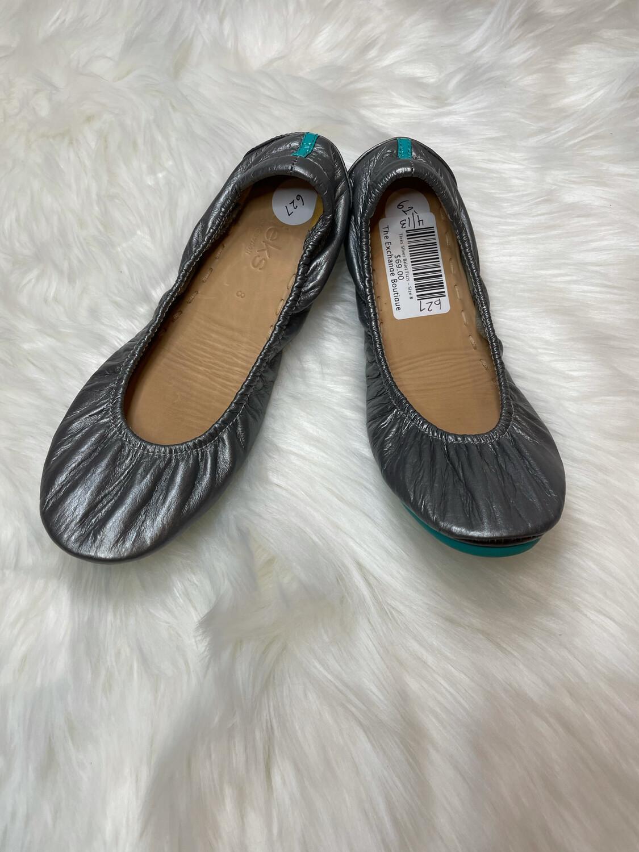Tieks Silver Ballet Flats - Size 8