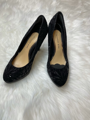 Gianni Bini Black Sequin Pumps - Size 7