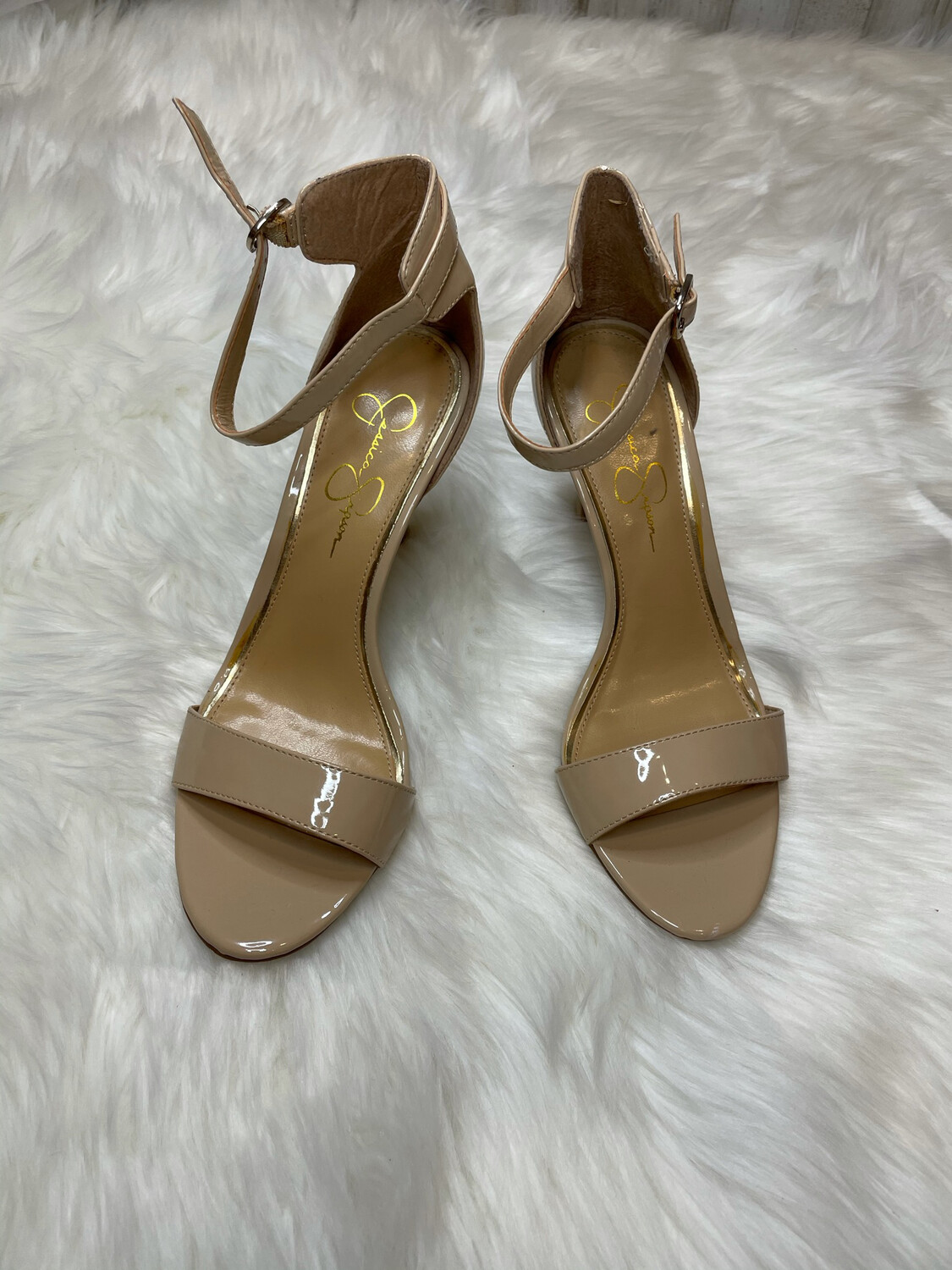 Jessica Simpson Nude Strappy Sandals - Size 9