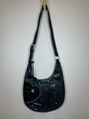 Brighton Black Heart Satchel Bag