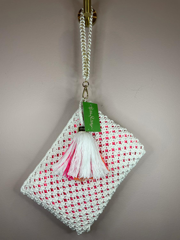 Lilly Pulitzer White & Pink Resort Wristlet