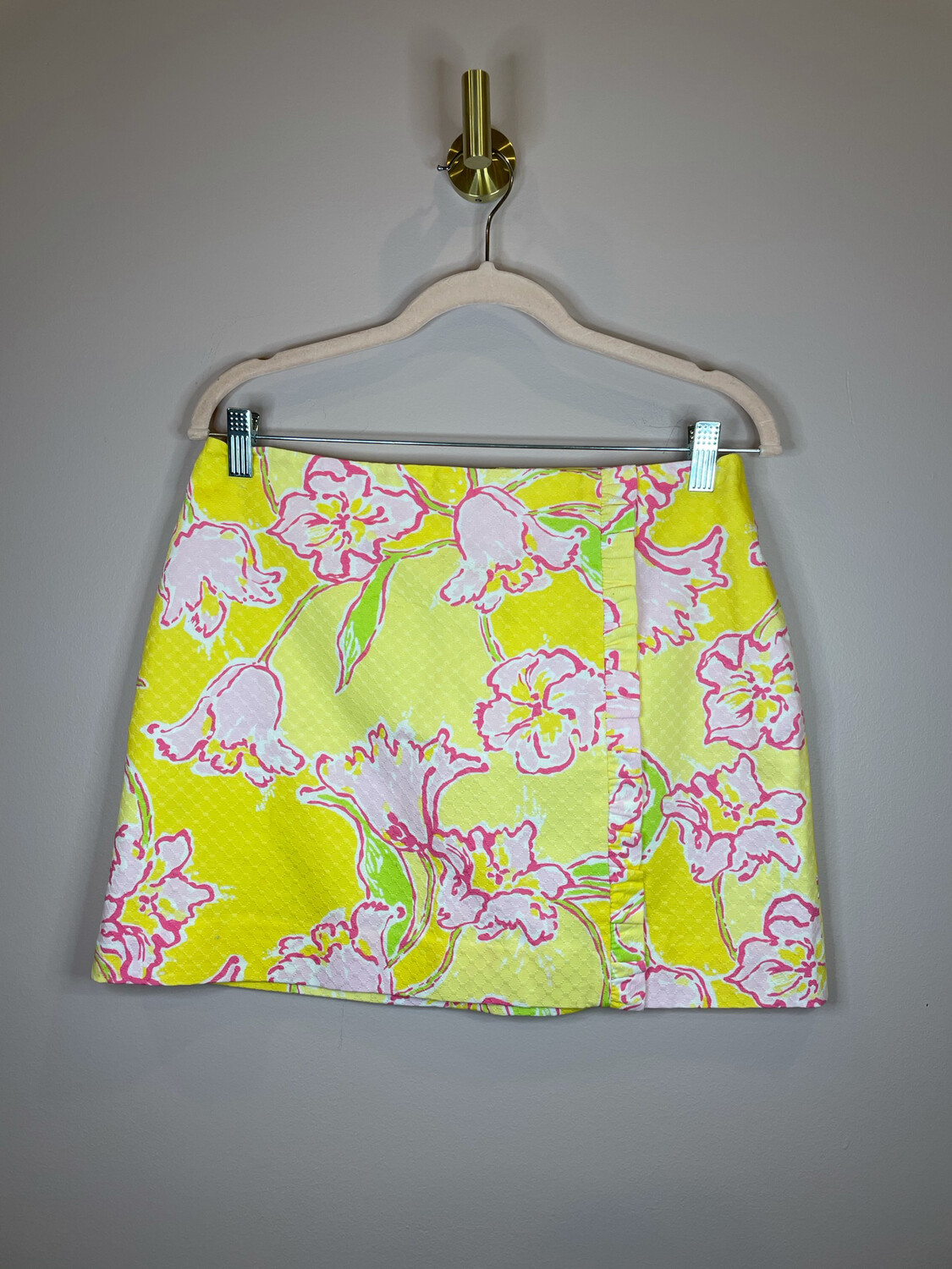 Lily Pulitzer Yellow & Pink Floral Skirt - Size 4
