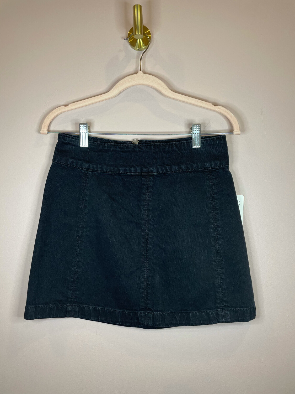 Free People Black Denim Skirt - Size 2