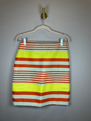 Ann Taylor Orange & Yellow Striped Skirt - Size 0