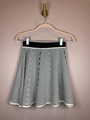 Lucy Paris Black & White Dot Skater Skirt - S