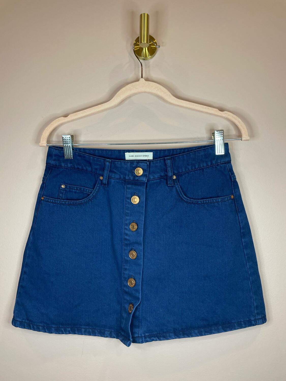 Isabel Marant Etoile Blue Denim Button Up Skirt - S