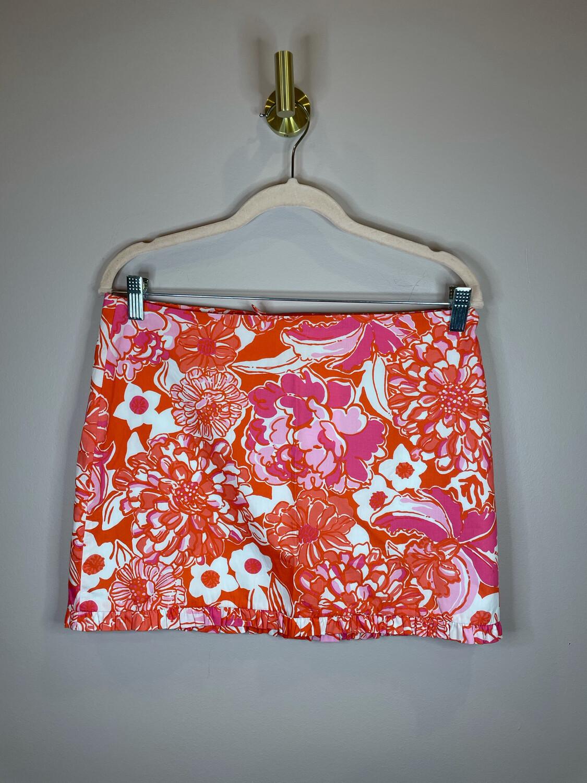 Lily Pulitzer Pink & Orange Floral Skirt - Size 4