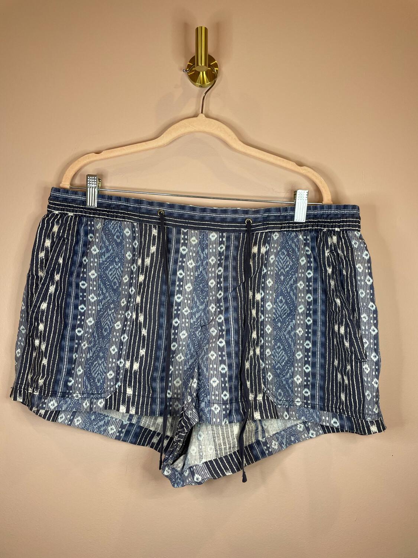 Gap Blue Print Shorts - XL