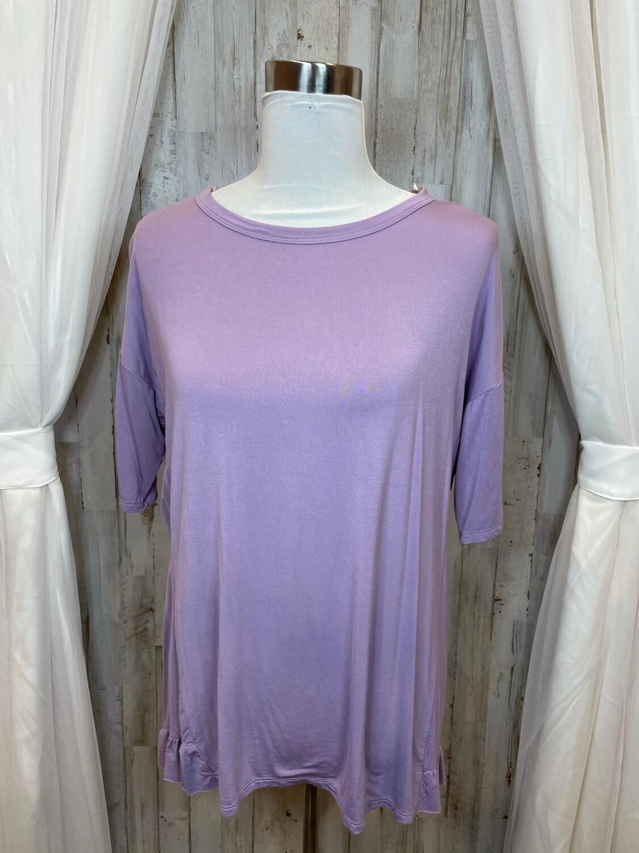 MTS Lavender Top w/Ruffle Trim - M