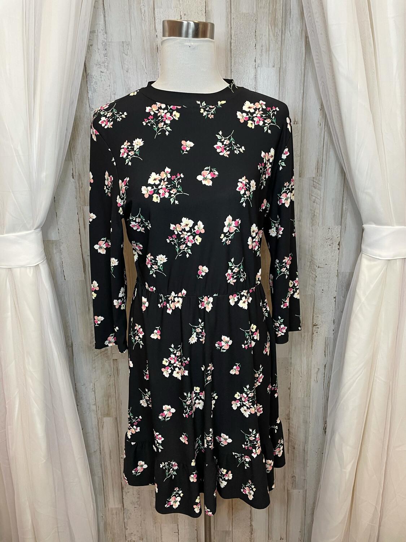 As You Wish Black Floral Print Dress - L