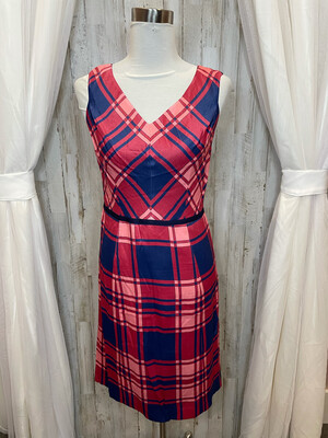 Draper James Pink Plaid Dress - Size 6