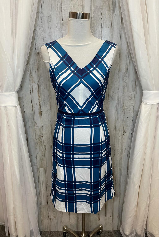 Draper James Blue & White Plaid Dress - Size 6