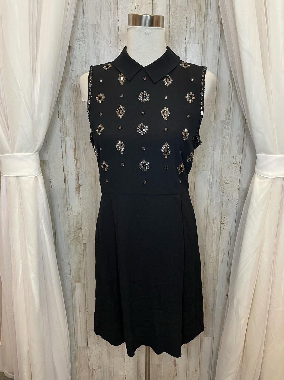 Draper James Black Collared Jewel Dress - Size 8