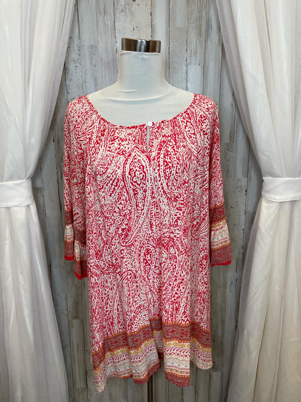 Altar'd State Red Print Dress - M