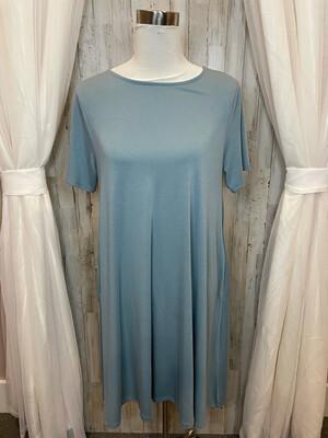 Zenana Premium Teal Dress w/Pockets - L
