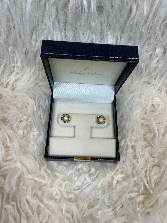 Brooks Brothers Pearl Earrings