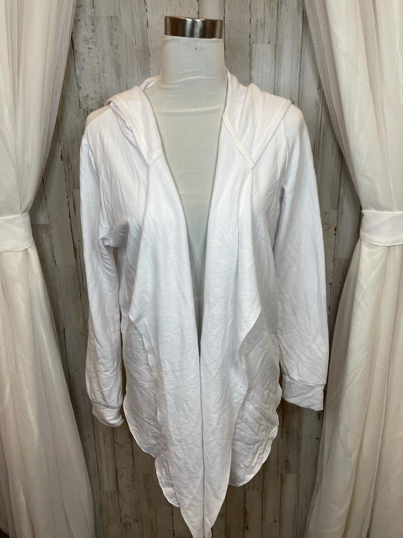 Fresh Produce White Hooded Sweatshirt Jacket - L
