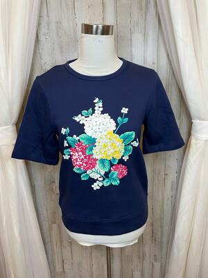 Draper James Navy Floral Sweatshirt - S