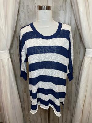 Fresh Produce Navy & White Striped Knit Sweater - XS/S