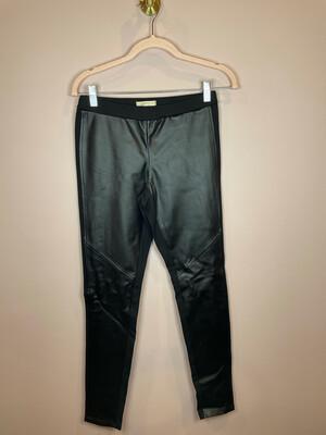 Michael Kors Black Faux Leather Front Leggings - S