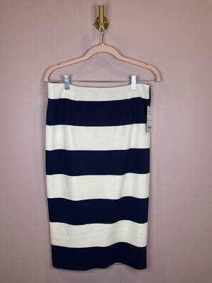 Worth New York Navy & White Striped Skirt - Size 2
