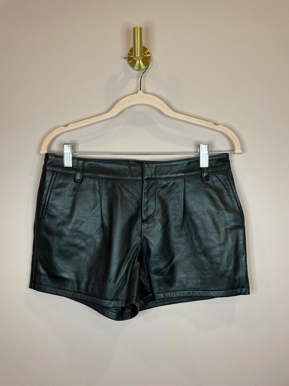 Halogen Black Leather Shorts - Size 2