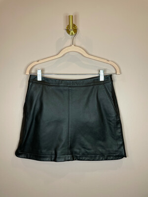 Joie Black Leather Skirt - Size 2